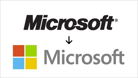 Not sure about the brand agencies, but here's a look at the new Microsoft logo