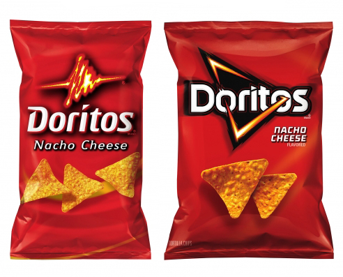 A look at dorito's new packaging graphics system