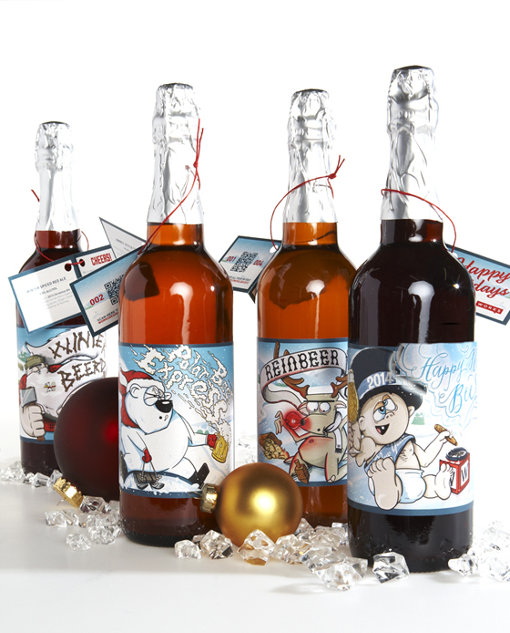 Works Design's 2013 holiday craft beer labels