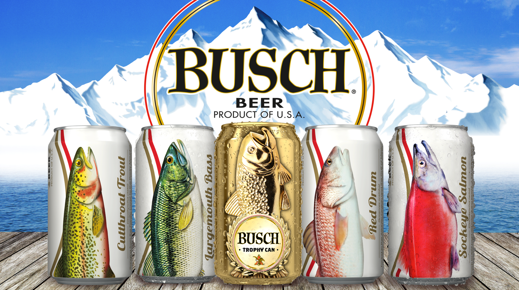 Busch Fishing Angler + Trophy Cans_